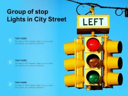 Group Of Stop Lights In City Street