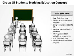 Group Of Studenets Studying Education Concept Ppt Graphic Icon
