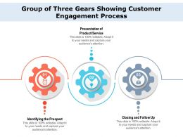 Group Of Three Gears Showing Customer Engagement Process