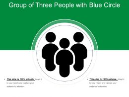 Group Of Three People With Blue Circle