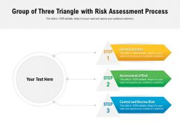 Group Of Three Triangle With Risk Assessment Process