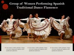 Group Of Women Performing Spanish Traditional Dance Flamenco