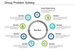 Group Problem Solving Ppt Powerpoint Presentation Show Graphic Tips Cpb
