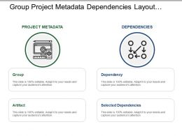 Group Project Metadata Dependencies Layout With Icons