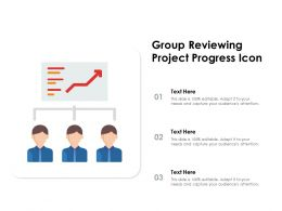 Group Reviewing Project Progress Icon