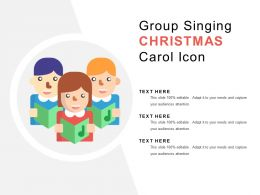 Group Singing Christmas Carol Icon