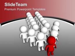 Group Standing Together In Arrow Shape PowerPoint Templates PPT Themes And Graphics 0213
