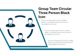 Group Team Circular Three Person Black Icon