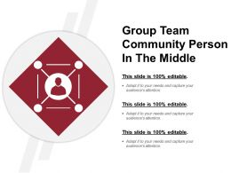 Group Team Community Person In The Middle