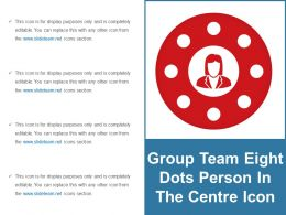 Group Team Eight Dots Person In The Centre Icon