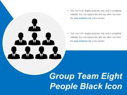 Group Team Eight People Black Icon