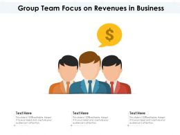 Group Team Focus On Revenues In Business
