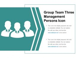 Group Team Three Management Persons Icon