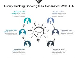 Group Thinking Showing Idea Generation With Bulb
