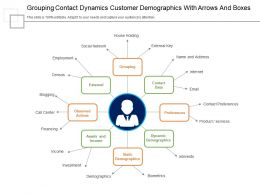 Grouping Contact Dynamics Customer Demographics With Arrows And Boxes