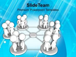 Groups Of People In Network Communication Powerpoint Templates PPT Themes And Graphics 0113