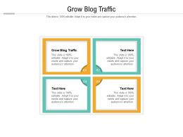 Grow Blog Traffic Ppt Powerpoint Presentation Inspiration Picture Cpb