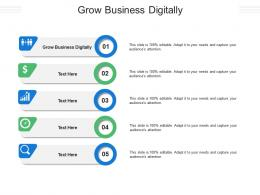 Grow Business Digitally Ppt Powerpoint Presentation File Good Cpb