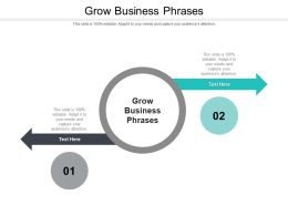 Grow Business Phrases Ppt Powerpoint Presentation Visual Aids Infographics Cpb