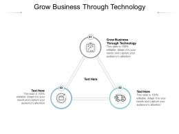 Grow Business Through Technology Ppt Powerpoint Presentation Icon Outfit Cpb