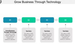 Grow Business Through Technology Ppt Powerpoint Presentation Slides Layout Cpb