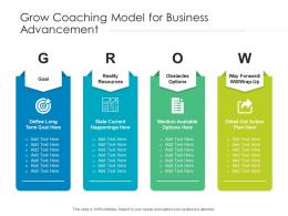 Grow Coaching Model For Business Advancement