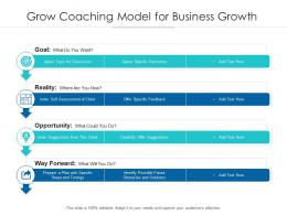 Grow Coaching Model For Business Growth