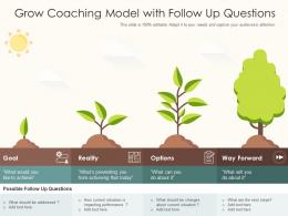 Grow Coaching Model With Follow Up Questions