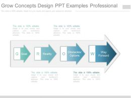 Grow Concepts Design Ppt Examples Professional