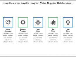 Grow Customer Loyalty Program Value Supplier Relationship Management