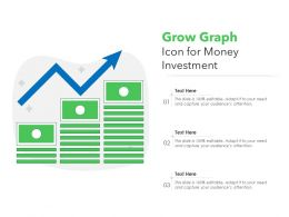 Grow Graph Icon For Money Investment