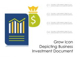 Grow Icon Depicting Business Investment Document