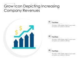 Grow Icon Depicting Increasing Company Revenues