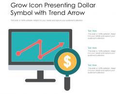Grow Icon Presenting Dollar Symbol With Trend Arrow