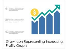 Grow Icon Representing Increasing Profits Graph
