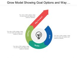 Grow Model Showing Goal Options And Way Forward