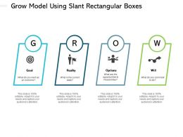 Grow Model Using Slant Rectangular Boxes