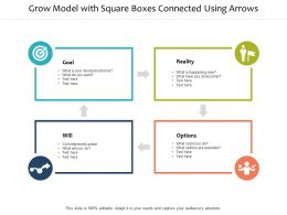 Grow Model With Square Boxes Connected Using Arrows