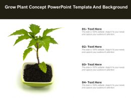 Grow Plant Concept Powerpoint Template And Background