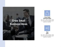 Grow Small Business Ideas Ppt Powerpoint Presentation Icon Aids Cpb