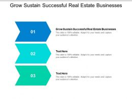 Grow Sustain Successful Real Estate Businesses Ppt Powerpoint Presentation Icon Master Slide Cpb