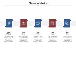 Grow Website Ppt Powerpoint Presentation Show Slide Cpb