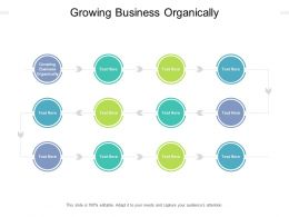 Growing Business Organically Ppt Powerpoint Presentation Inspiration Template Cpb