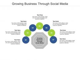 Growing Business Through Social Media Ppt Powerpoint Presentation Professional Show Cpb