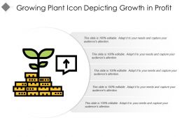 Growing Plant Icon Depicting Growth In Profit