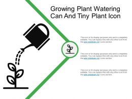 Growing Plant Watering Can And Tiny Plant Icon