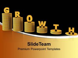 Growing Stack Of Coins Powerpoint Templates Ppt Themes And Graphics 0113
