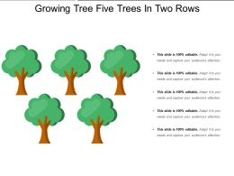 Growing Tree Five Trees In Two Rows