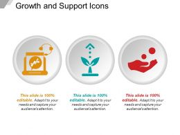 Growth And Support Icons