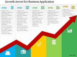 Growth Arrow For Business Application Flat Powerpoint Design